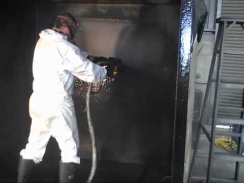 Polyurea Spraying inside Flocculation Tanks