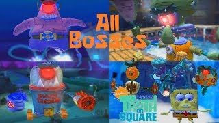 SpongeBob's Truth or Square - All Bosses [No Lifes Lost, No Power-Ups] (HD 1080p)