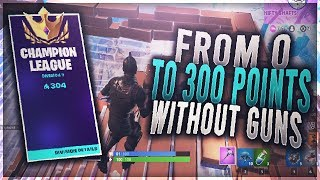 I Reached Champion League WITHOUT Guns in Fortnite
