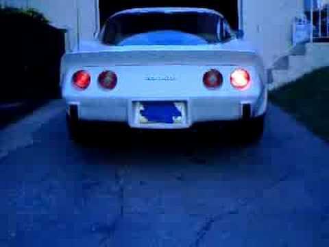 Free Flow Exhaust >> 78 corvette L82 monza dual tip muffler exhaust sound - YouTube