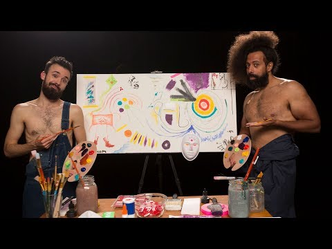 Reggie Watts Paints Shirtless with The Shirtless Painter