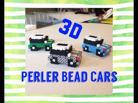 3d Perler Bead Car Cute Mini Car Tutorial Youtube