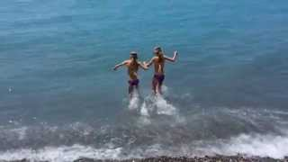 Клип на пляже (Bordighera-Италия)