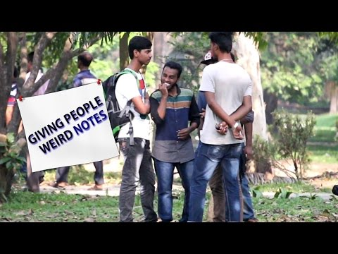 Giving People Weird Notes | Pranks In Bangladesh