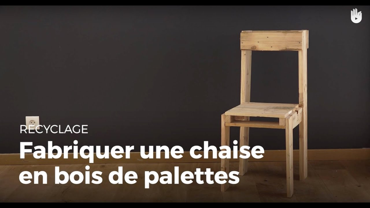 fabriquer une chaise en bois de palette recycler youtube. Black Bedroom Furniture Sets. Home Design Ideas