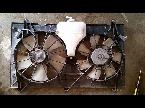 03 04 05 06 07 Accord 4CYL DENSO Radiator A//C Cooling Shroud Fan Motors Assy OEM