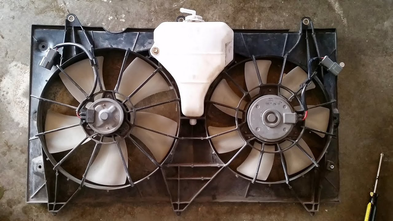 2003 2007 Accord Radiator Condenser Fan Assembly Removal