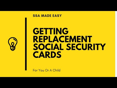 How i get a replacement social security card