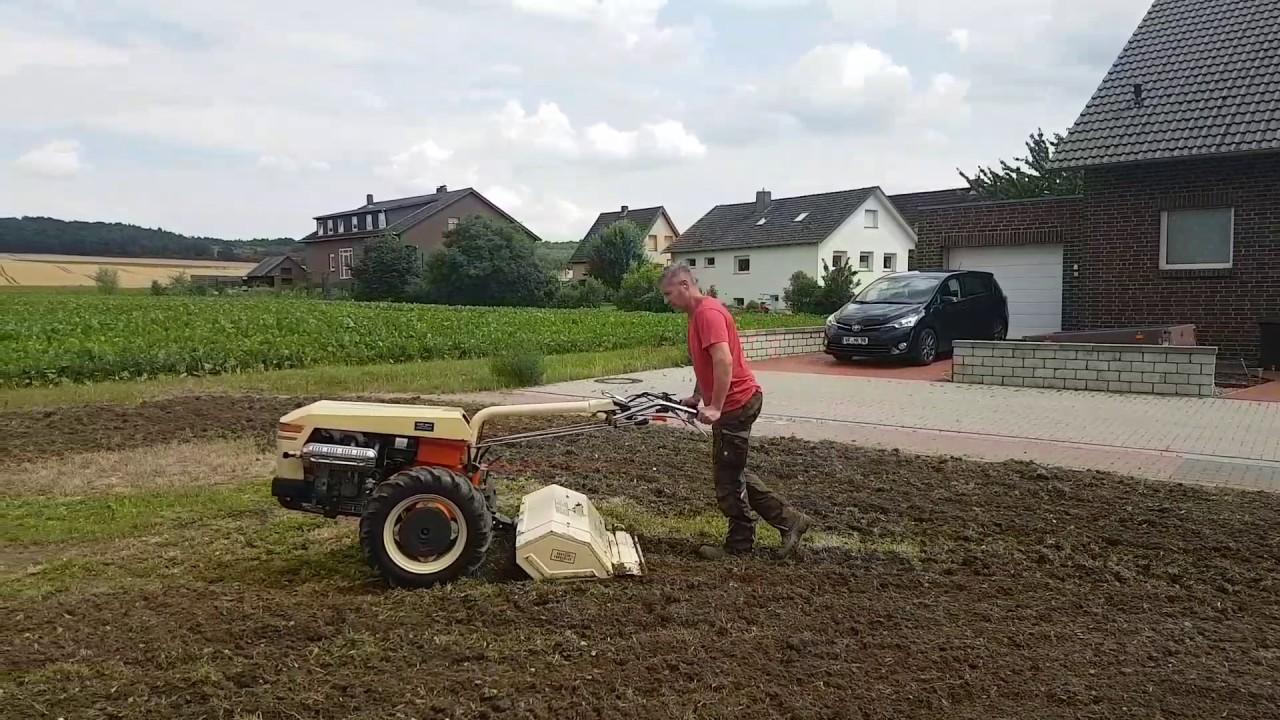Holder Einachser E 1400 Bodenfrasen Gartenfrase Dienstleistung Www