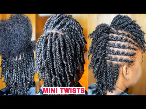 #minitwists-#naturalhair-mini-twists-on-short-type-4-natural-hair|-easy-twists-and-styling!
