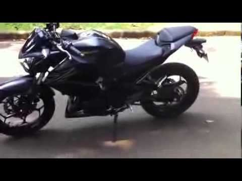Kawasaki Z250 FI Review Exhaust Sound