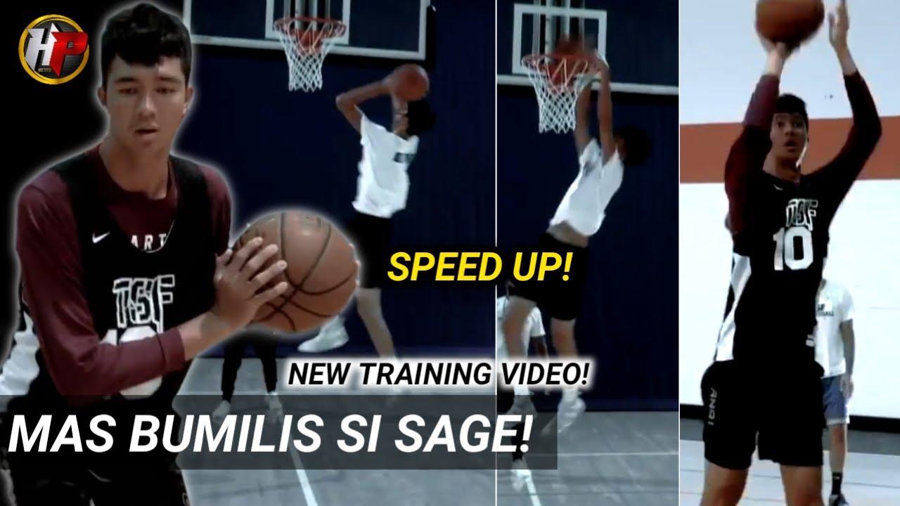 Grabe ang pag-bilis ng galaw ni Sage Tolentino| Kakaiba para sa isang 7 footer!LATEST TRAINING VIDEO