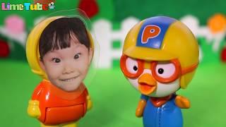 라임이가 거미줄에 걸려버렸어요! 라임이 구출작전 뽀로로 엘사 베이비돌 장난감  Baby doll & Frozen Elsa LimeTube & Toy 라임튜브