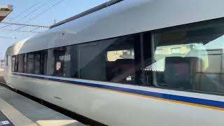 JR北陸本線 681系しらさぎ通過シーン春江駅にて