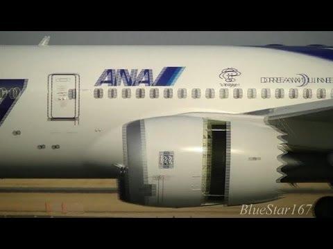 All Nippon Airways (ANA) Boeing 787-8 (JA801A) landing at ITM/RJOO (Osaka - Itami) RWY 32L