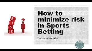 How to minimize risk in Sports Betting #sportsbetting #nfl