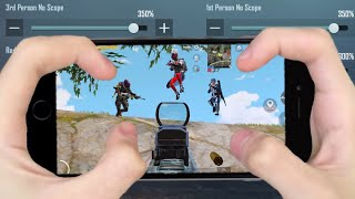 NEW BEST SENSITIVITY & SETTING 2021🔥 | IPhone 8 PUBG 4 Finger Claw Gyroscope | PUBG MOBILE
