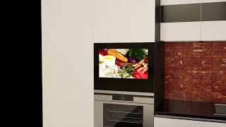 телевизор для кухни встраиваемый влагозащищенный телевизор для кухни avs220k