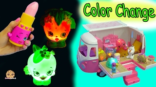 Color Changing Light Up Giant Shopkins + Season 7 + Num Noms Surprise Blind Bags