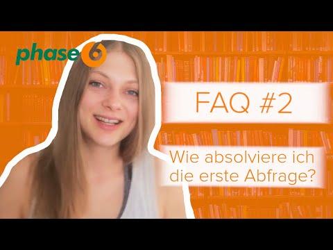 Erste Abfrage bei phase6 - FAQ #2