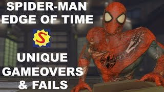 Unique Game Overs & Fails - Spider-Man: Edge of Time
