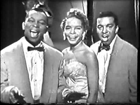 THE PLATTERS.  The Great Pretender.  1950's Live Kinescope.  Classic R&B / Doo-Wop