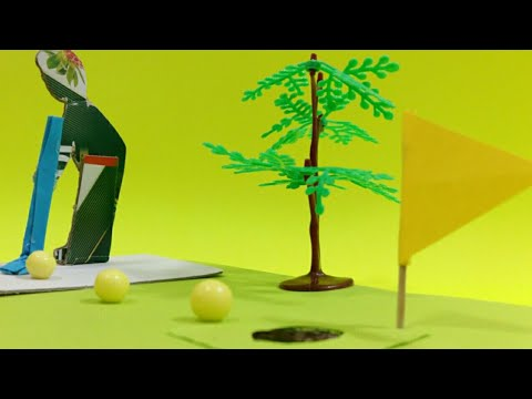 Origami Golf - Mini Golf Game from Cardboard DIY at Home