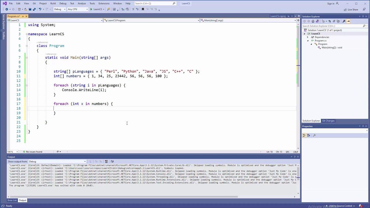 C# Tutorial - Arrays and Foreach Loop
