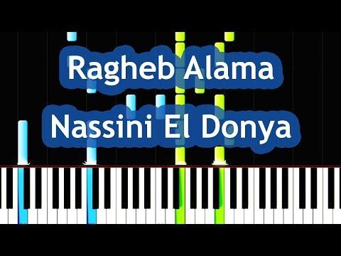 Ragheb Alama - Nassini El Donya Piano Tutorial نسينى الدنيا - راغب علامة