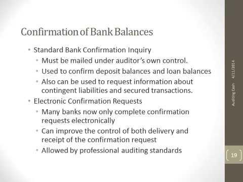 Confirmation of Bank Balances