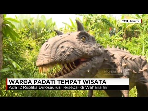 Warga Padati Tempat Wisata Wahana Dinosaurus Youtube
