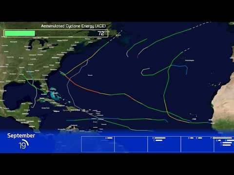 2018 Atlantic Hurricane Season Animation