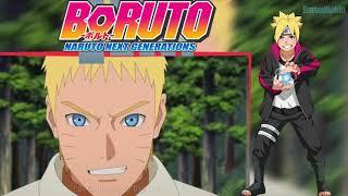 Boruto Sarada Instinct Fight Naruto Episode 45 Sub Indo