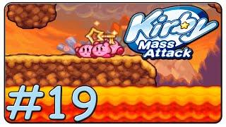 Kirby Mass Attack 100% Walkthrough Part 19 Volcano Valley Stage 1