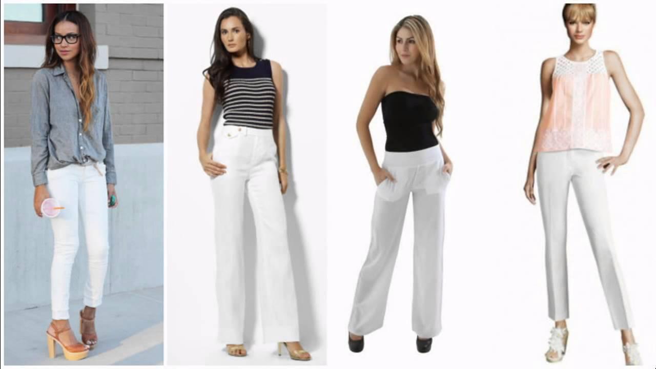 d6d2d3e2ab9d8 Cómo combinar un pantalón blanco - YouTube