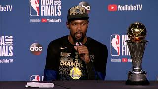 Kevin Durant Postgame Interview NBA Finals Game 4