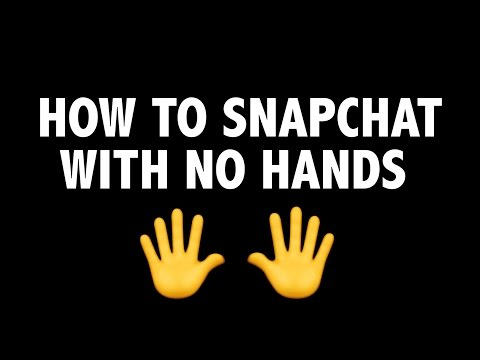 How to take a hands free snapchat picture