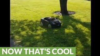 Homemade remote controlled Lamborghini lawn mower