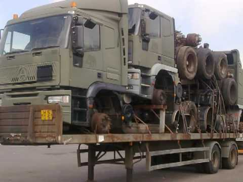 Trucks for export to Lagos