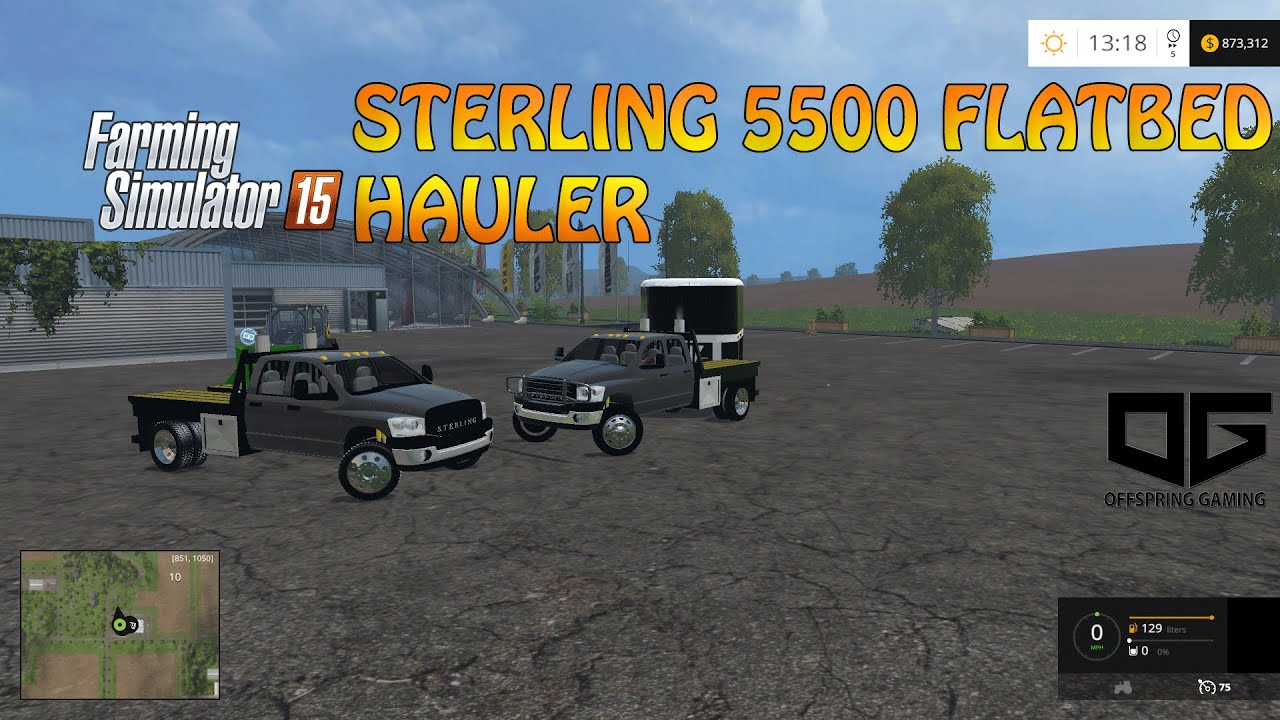 Farming simulator 2015 offspring gaming aim sterling 5500 hauler release youtube