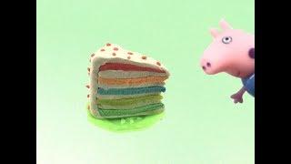 Play Doh Cake Rainbow Cake How to Make Rainbow ไอศครีมแป้งโดว์และตัวเลข | ปั้นแป้งโดว์ ไอศครีม