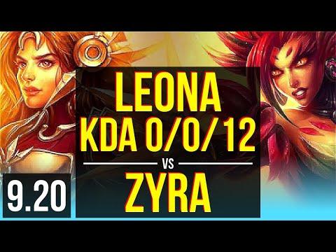 LEONA & Kai'Sa vs ZYRA & Caitlyn (SUPPORT) - KDA 0/0/12 - Korea Master - v9.20 - 동영상