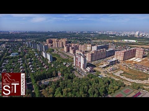 Летаем над городом Видное. Полет вокруг ДК и к ЖК Зеленые Аллеи