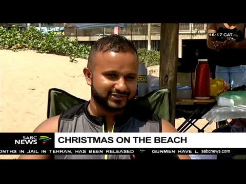 Many spend Christmas at the beach in Durban