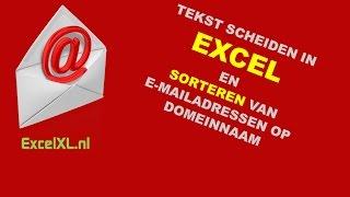 Tekst scheiden in Excel -  emailadressen