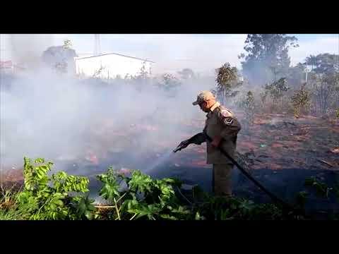 Incêndio em terreno baldio no bairro Noroeste por pouco não atinge empresa