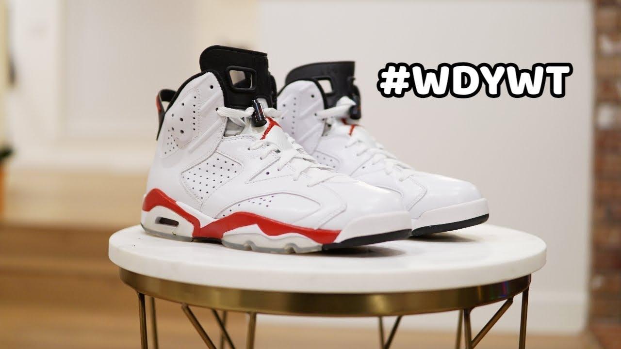WDYWT Nike Air Jordan 6 White Varsity