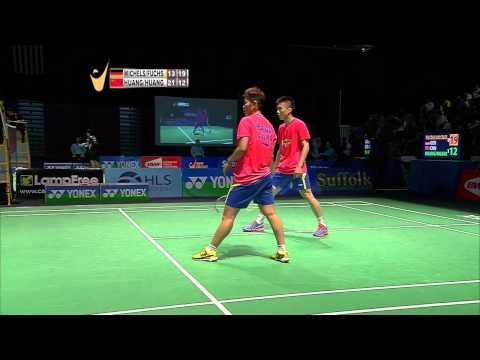 Yonex US Open C'ship 2015 | Badminton SF M3-XD | M. Fuchs/B. Michels vs Huang Kx/Huang Dp