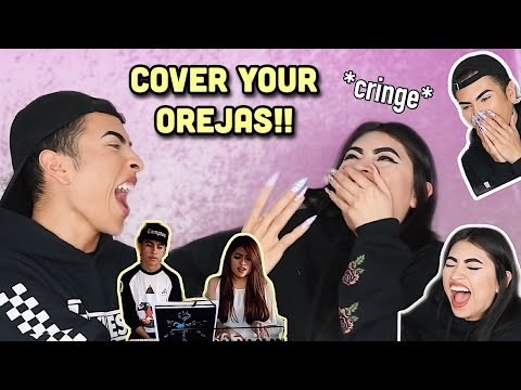 REACTING to our CRINGEY singing videos..! | Louie's Life