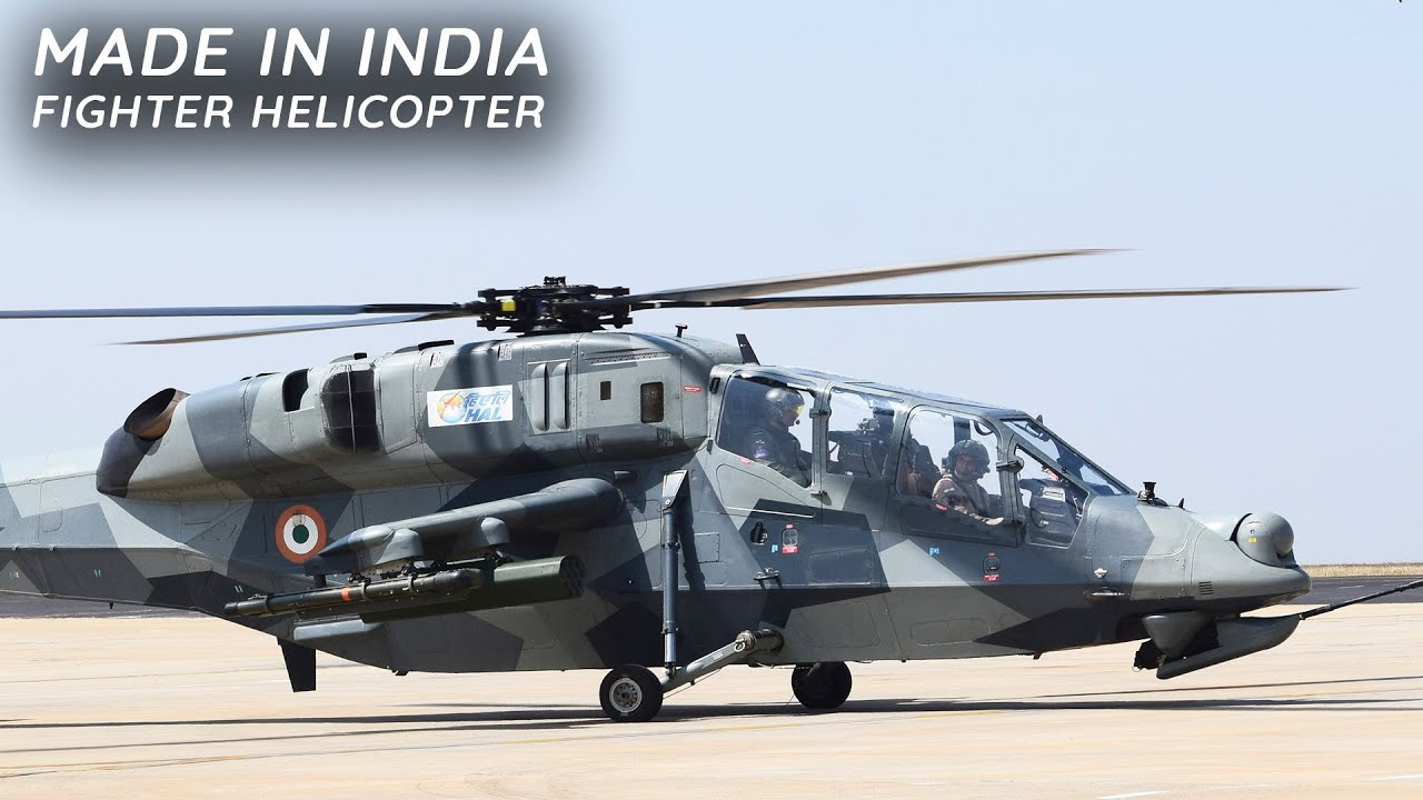 Download Indian multi-role attack Light Combat Helicopter (LCH) take off and landing.